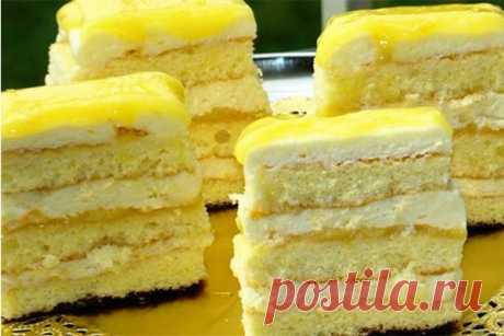 Мягкие и нежные лимонные пирожные