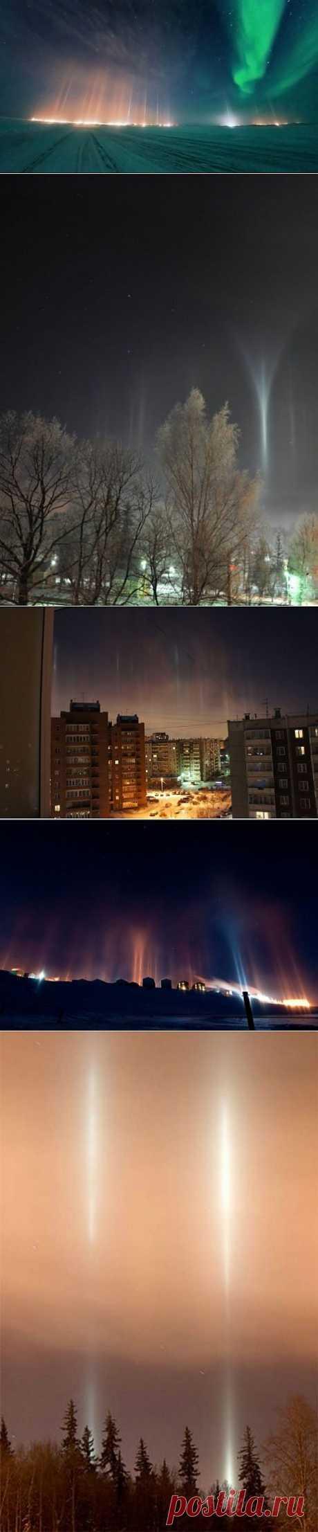 (+1) сообщ - Удивительные световые столбы | ТУРИЗМ И ОТДЫХ