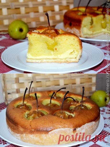 Нежнейший пирог с грушами.