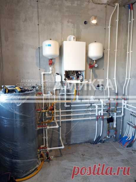 🔥 Монтаж газовой котельной на сжиженном газе из газгольдера.