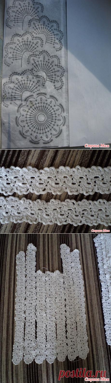 . Белый топ ленточным кружевом - Вязание - Страна Мам