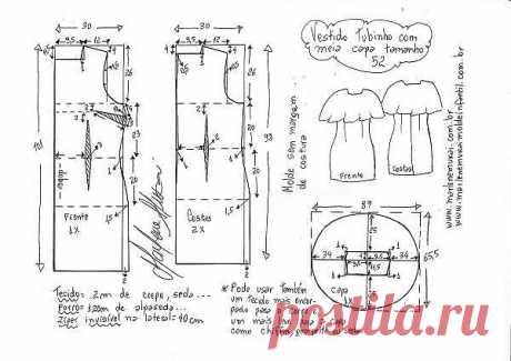 Выкройка черного платья. Размеры евро от 36 до 52 (Шитье и крой) — Журнал Вдохновение Рукодельницы