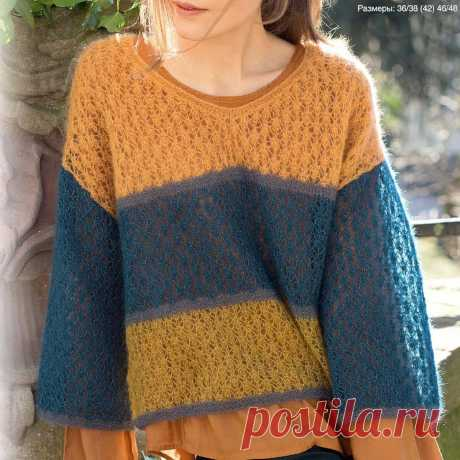 3 недели до осени 7 пуловеров спицами Модели из мохера | Всё лучшее - маме | Яндекс Дзен