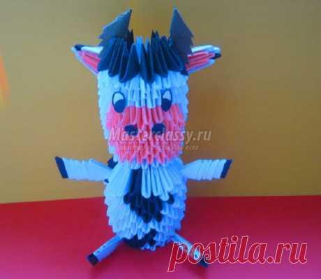 Поделка модульное оригами. Корова. Мастер-класс