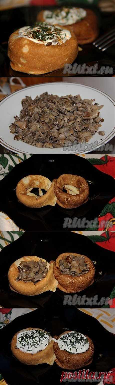 Рецепт блинчиков с грибами (рецепт с фото)   RUtxt.ru