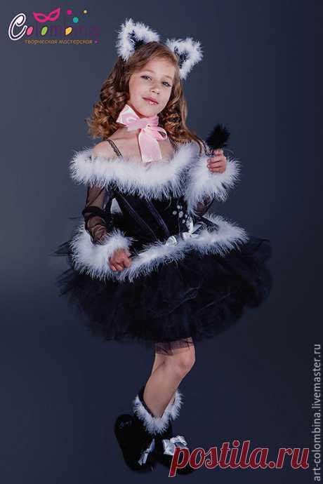 Купить Костюм кошки - черный, костюм кошки, кошка, детский костюм кошки, карнавальные костюмы