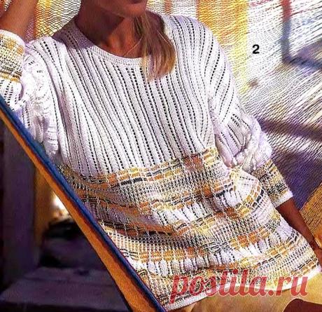 Интересные полоски - оригинальное изделие. Часть 2. Вязание спицами. | Марусино рукоделие | Яндекс Дзен