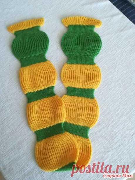 Шарф спицами для маленького ребенка - Вязание - Страна Мам