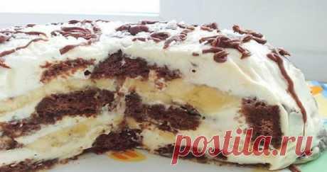 Невероятный торт без выпечки состоящий всего из трех ингредиентов