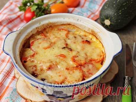Кабачки с картошкой и помидорами в духовке — рецепт с фото Кабачки с картофелем и помидорами, запеченные в духовке - сытное, полезное и очень вкусное овощное блюдо для всей семьи.