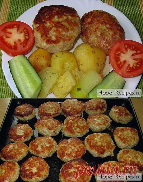 Нежные куриные котлеты в духовке © Кулинарный блог #Рецепты Надежды