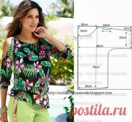 Самые простые выкройки летних блузок, справится начинающая швея | Самошвейка | Яндекс Дзен