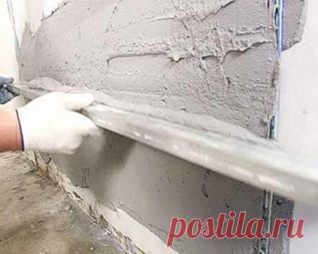 Как маячки помогут выровнять стены посредством штукатурки — Строительство и отделка — полезные советы от специалистов