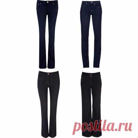 Джинсы Отдавайте предпочтения моделям джинсов без кричащих изысков — на джинсах вашего базового гардероба строго воспрещено наличие стразов, декоративных дыр, крупных надписей, вышивок или ярких потертостей.