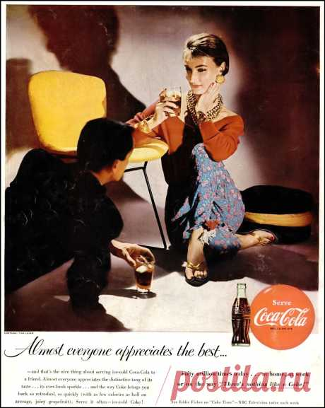 Evelyn Tripp, outfit by Tina Leser, Coca Cola ad, 1955