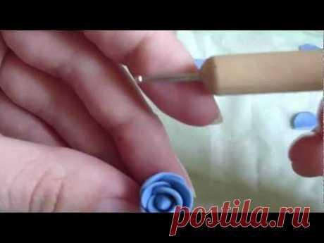 Мастер-класс, цветы из полимерной глины за 5 минут. .MP4 - YouTube