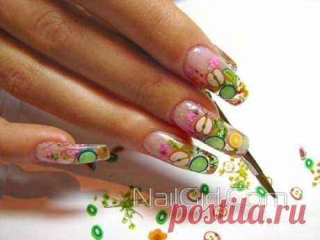 Фимо для ногтей: интересный дизайн ногтей с фруктами, фото и видео инструкция
