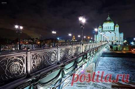 Ночная Москва. Светография.