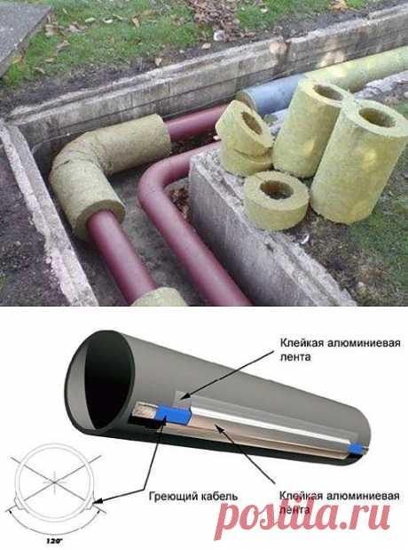 Утепление труб водопровода, канализации, отопления