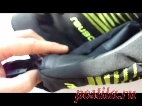 Горнолыжные перчатки Reusch Sportif Softshell R-TEX XT (черные с салатовыми полосками) 1050грн