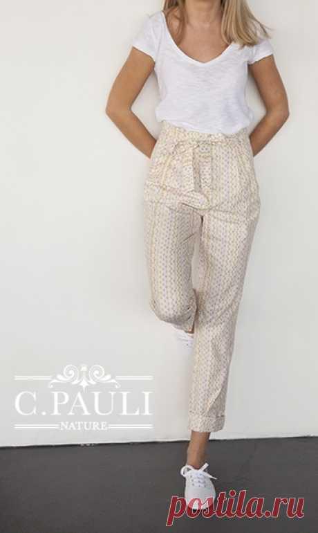 Выкройка брюк женских р.S-M-L МК по пошиву https://www.c-pauli.de/blog/moderne-high-waist-paperb..