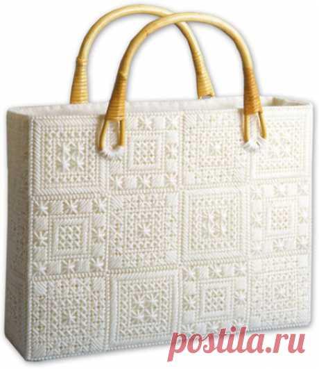 Женские сумки из пластиковой канвы - Домашний hand-made