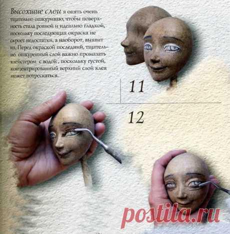 Полезное чтиво. МК. Голова куклы из папье-маше. Советы профессианалов.