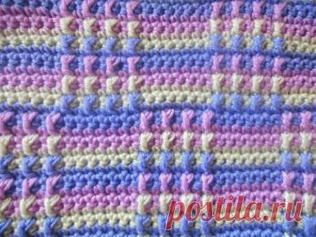 Многоцветный узор Multicolor pattern Crochet - YouTube