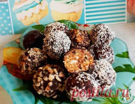 Грильяжные конфеты с курагой и черносливом – кулинарный рецепт