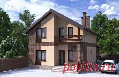 Проект двухэтажного дома 128 м2 9х12 метров - Новация 176