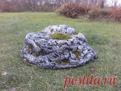 Мастер-класс: Лёгкий камень своими руками - полезное украшение для сада / 7dach.ru