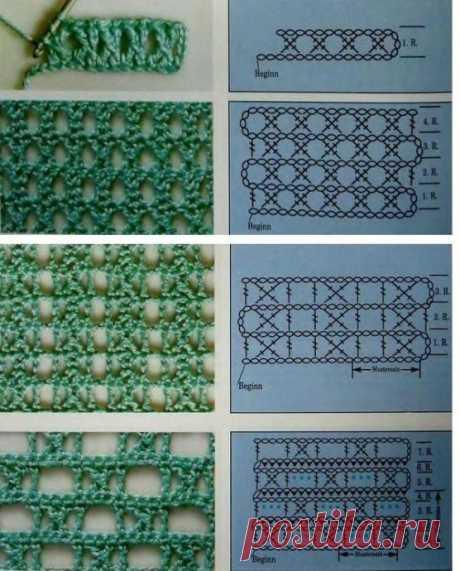 Варианты вязания скрещенных столбиков, вяжем крючком из категории Интересные идеи – Вязаные идеи, идеи для вязания