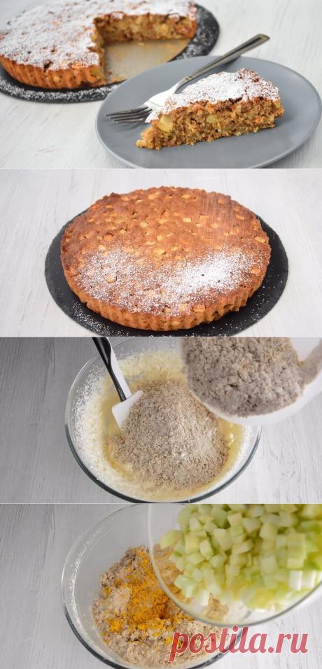 Овсяный пирог с яблоками по рецепту любимой бабушки