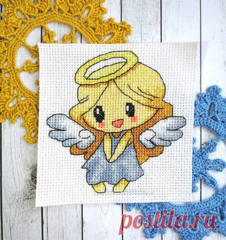 Схема для вышивки крестом авторская: Маленький ангел pdf e-pattern.ru