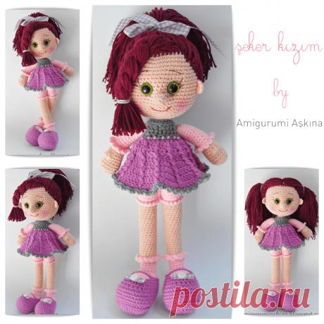 Амигуруми куколка Candy Doll крючком. Автор amigurumi askina.