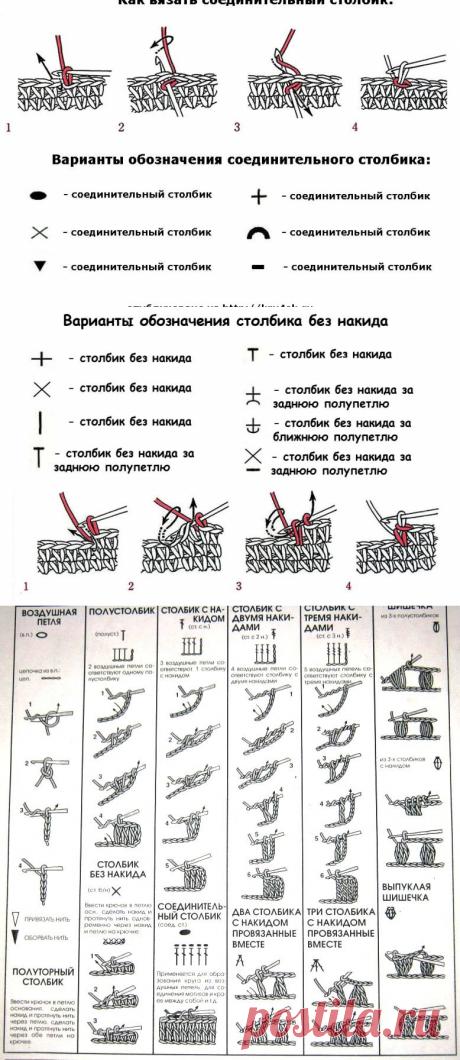 Условные обозначения для крючка — Сделай сам, идеи для творчества - DIY Ideas