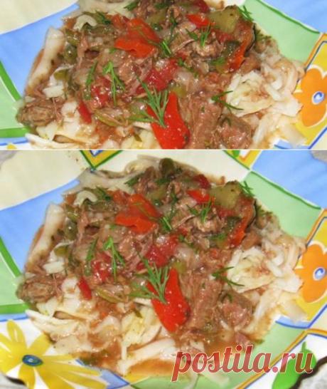 Лагман из говядины по-узбекски - рецепт с фото / Простые рецепты