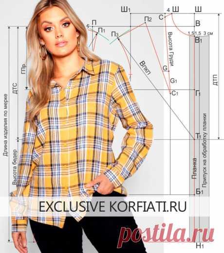 El patrón femenino bluzki - la base de A.Korfiati
