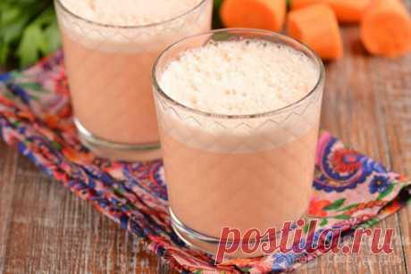 Молочный коктейль с морковным соком. Нежная текстура и густая мягкая пена (вкус моего детства) | Совет да Еда | Яндекс Дзен