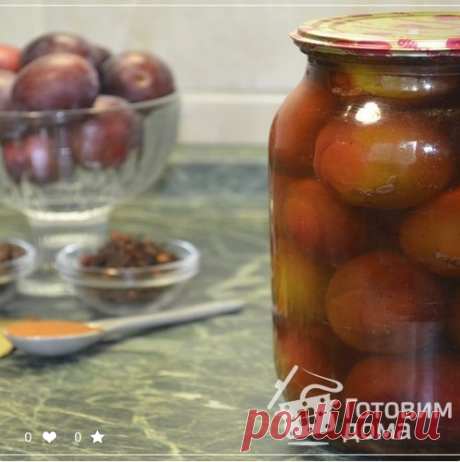 Spicy plums for the winter. The most tasty snack plum! - The recipe from a photo on we Prepare houses
