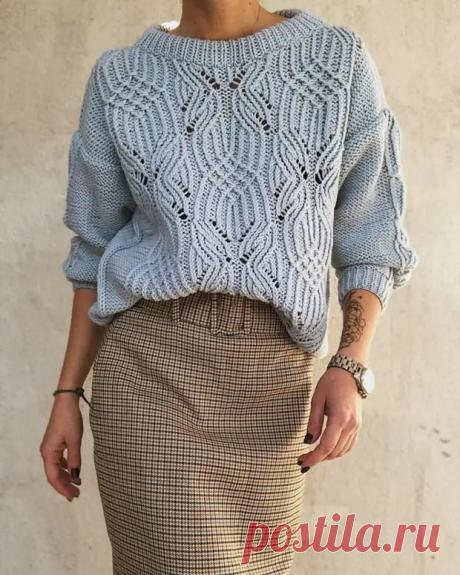 Схемы узоров для модных свитеров 2021 | Копилка узоров (Вязание спицами) | Яндекс Дзен