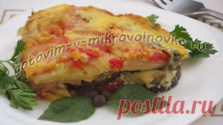 Овощная запеканка с баклажанами и помидорами. Рецепт с фото пошагово