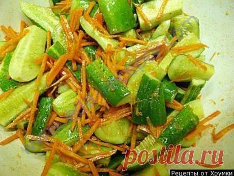 Салат огурцы по-корейски на зиму с морковью и 15 похожих рецептов: пошаговые фото, калорийность, отзывы