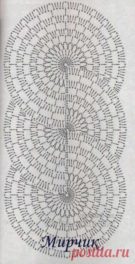 ленточное кружево 29 - схема вязания