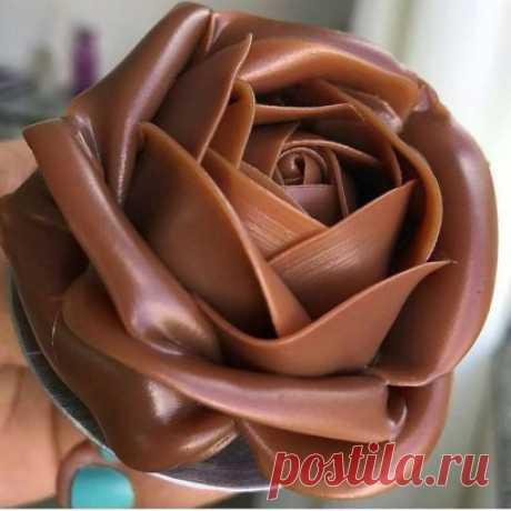 Шоколадная роза. Смотрите ниже