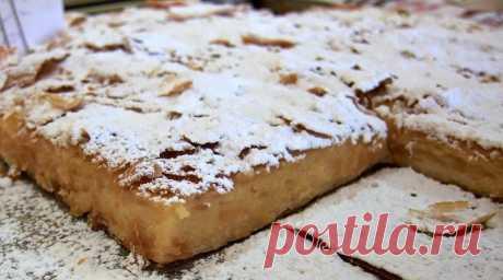 Рецепт греческого пирога бугацу – пирог с заварным кремом к чаю!