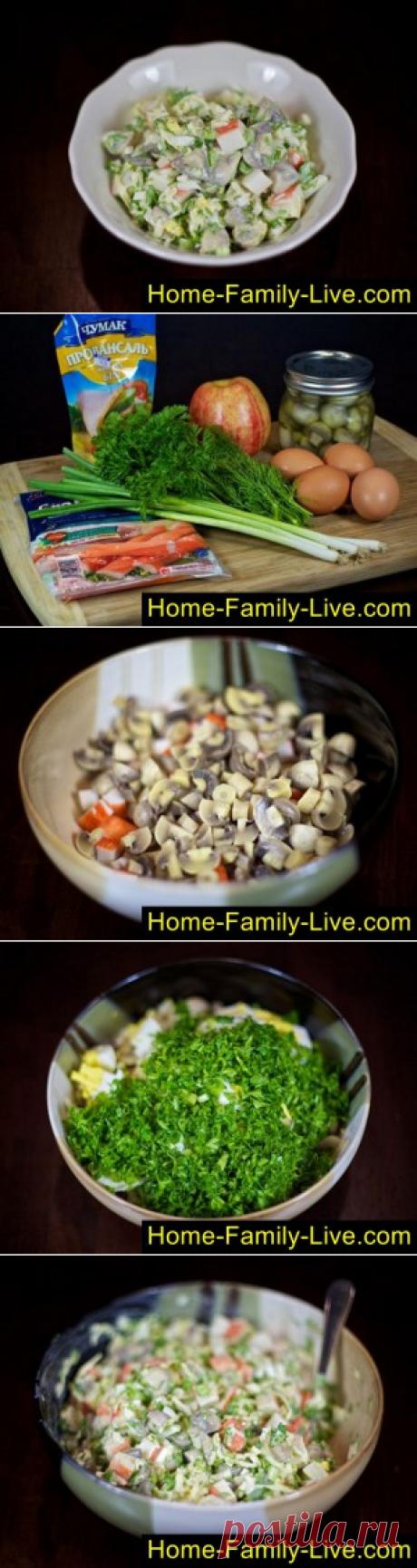Салат из крабовых палочек - пошаговый фоторецептКулинарные рецепты