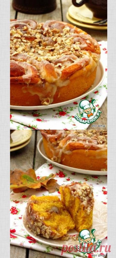 Тыквенные булочки с орехами и коричневым сахаром – кулинарный рецепт