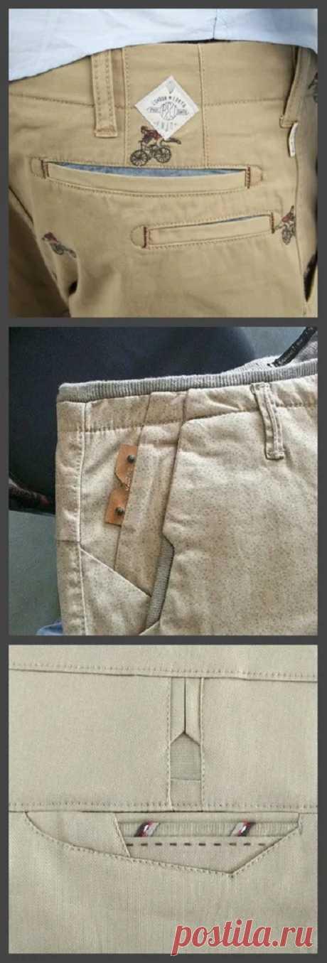 Необычные детали мужских брюк
