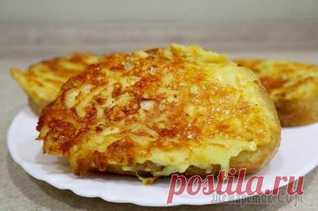 Горячие бутерброды с сыром и картофелем.